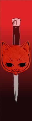 Kitty Blade Custom Skateboard Griptape 9x34 in.