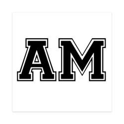 AM Sticker 4 x 4 Square