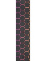 colored hexagons Custom longboard griptape