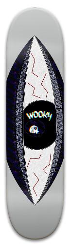 Wooky Eye See Deck Park Skateboard 8 x 31.775