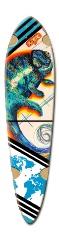 Chameleon color Dart Skateboard Deck v2