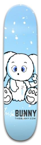 ThisBunny.com Blue Flurry Park Skateboard 8 x 31.775