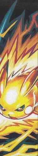 pikachu thunderbolt fanart Custom longboard griptape