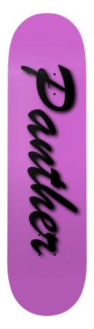 Panter Logo Board Banger Park Skateboard 7.75 x 31.25