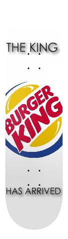 burger king sponser Banger Park Skateboard 7.75 x 31.25