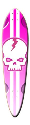 Pink Skull Dart Skateboard Deck