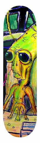Well Connected Alien Banger Park Skateboard 8.5 x 32