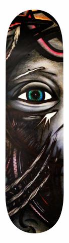 Mask Banger Park Skateboard 7.75 x 31.25