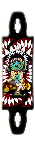 Teddy Native Fitlyz deck Gnarlier 38 Skateboard Deck