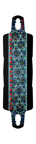 Sai Boba Drop Through Symmetrical Downhill Longboard 10 x 38