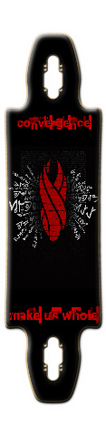 DeadSpace Marker Board Gnarlier 38 Skateboard Deck