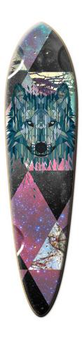 Galaxy wolf Dart Skateboard Deck