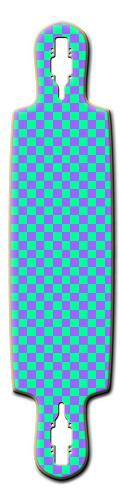 Custom Riviera Kung Fu Kitty Drop Thru Longboard 9.5 x 41.5