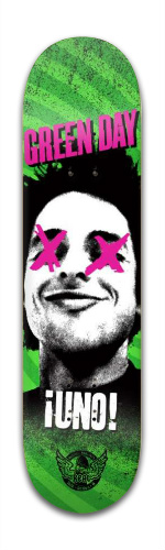 Green Day Uno! Skateboard Banger Park Skateboard 8 x 31 3/4