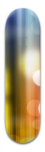 Rainbow Bubbles Banger Park Skateboard 8.5 x 32 1/8