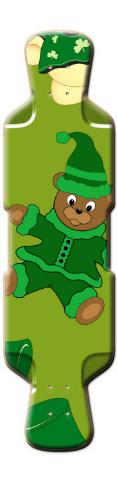 St Pattys Day Bears Perfecto 39 Skateboard Deck