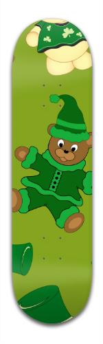 St Pattys Day Bears Banger Park Skateboard 8.5 x 32 1/8