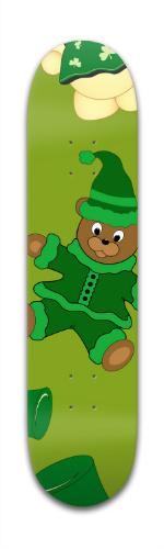 St Pattys Day Bears Banger Park Skateboard 7 3/8 x 31 1/8