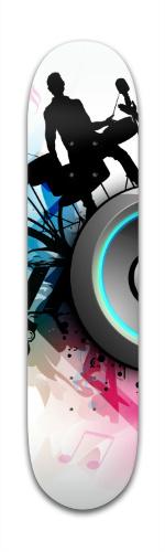 Band Jam Graphic Banger Park Skateboard 7 3/8 x 31 1/8