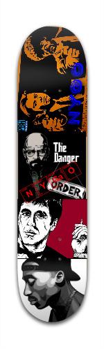 NYGO the legends Banger Park Skateboard 7 3/8 x 31 1/8