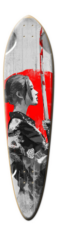 M&M designs - SamuraiGirl Dart Skateboard Deck