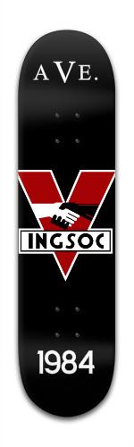 INGSOC by Ave. Banger Park Skateboard 8 x 31 3/4