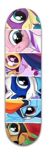 My little super ponies Banger Park Skateboard 8.5 x 32 1/8