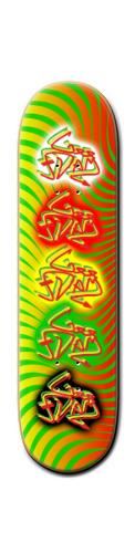 GEE-DAM Rasta Extrav Banger Park Skateboard 8 1/4  x 32