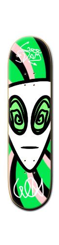 GEE-DAM Trip alien Banger Park Skateboard 8 1/4  x 32