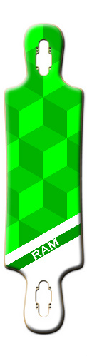 Green Cube {Text can be edited by r B52 Complete Longboard
