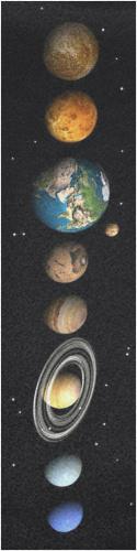 our planets Custom skateboard griptape