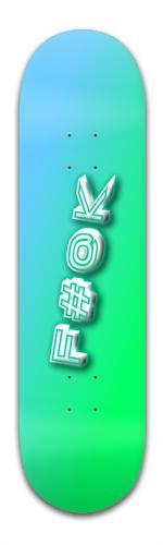 F yeah Banger Park Skateboard 8.5 x 32 1/8