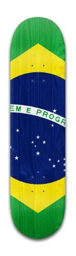 Brazil Flag Banger Park Skateboard 8 x 31 3/4