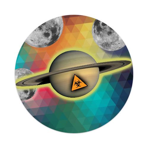 Toxic Space Sticker 4 x 4 Circle