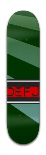 DEFJ Special Green Banger Park Complete Skateboard 7 7/8 x 31 5/8