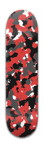 Red Camo Banger Park Skateboard 8 x 31 3/4