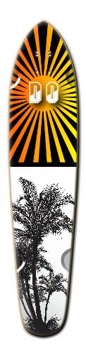 Sunset paradise Custom Riviera King of Kings III Longboard 9.25 x 40