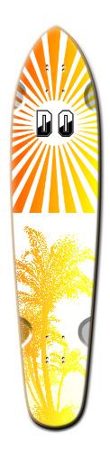 sunset paradise V.2 Custom Riviera King of Kings III Longboard 9.25 x 40