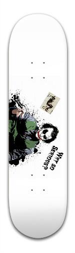 Heath Ledger Joker Banger Park Skateboard 8.5 x 32 1/8