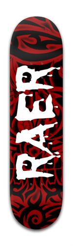 RAER skulls n roses Banger Park Skateboard 8 x 31 3/4