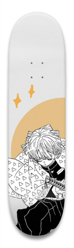 Zenitsu Demon Slayer Park Skateboard 8.5 x 32.463