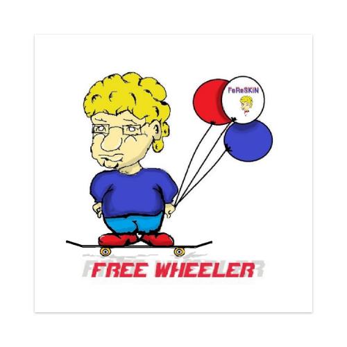 FoReSKiN Free Wheeler Sticker 4 x 4 Square