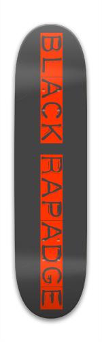 black rapadge Park Skateboard 7.88 x 31.495