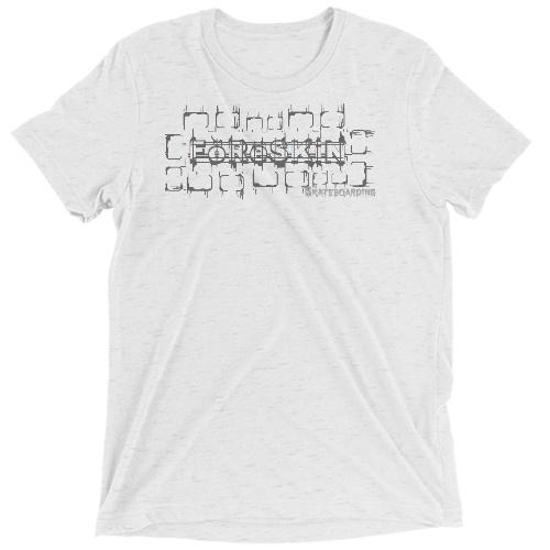 foreskin skateboarding Custom T Shirt - Tri Blend (White Fleck)
